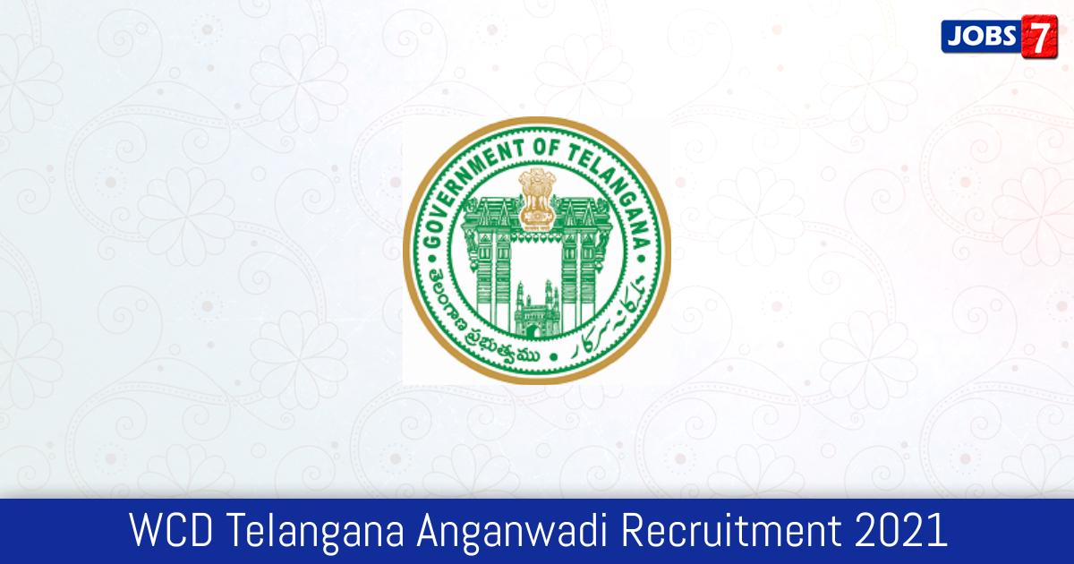 WCD Telangana Anganwadi Recruitment 2021: 493 Jobs in WCD Telangana Anganwadi | Apply @ wdcw.tg.nic.in