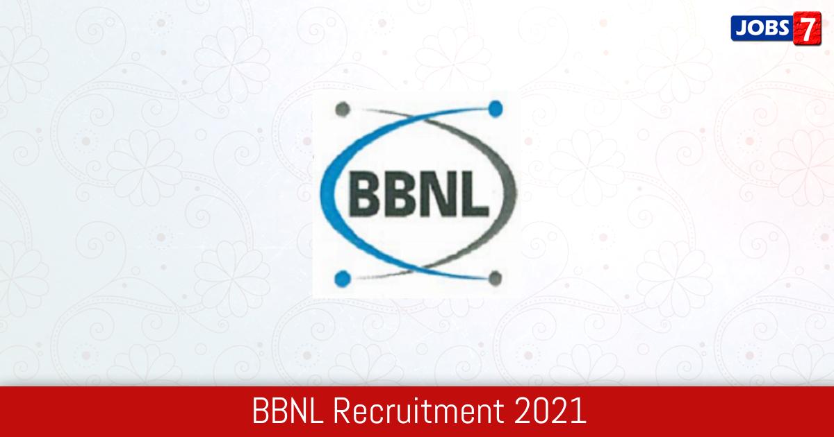 BBNL Recruitment 2021:  Jobs in BBNL | Apply @ bbnl.nic.in