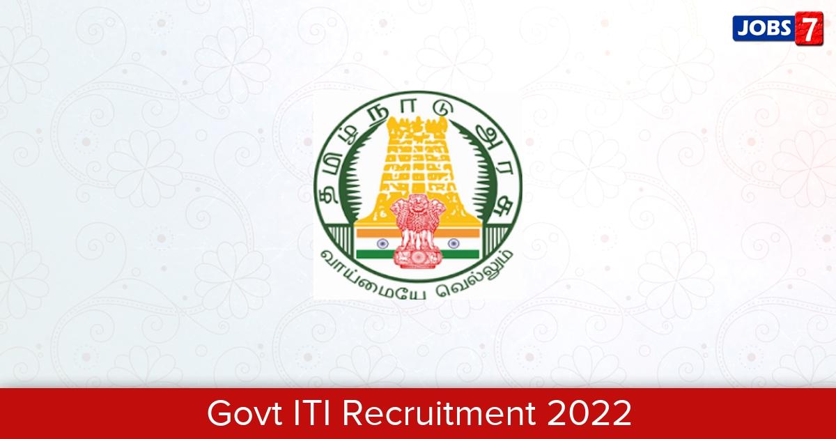 Govt ITI Recruitment 2021:  Jobs in Govt ITI | Apply @ skilltraining.tn.gov.in