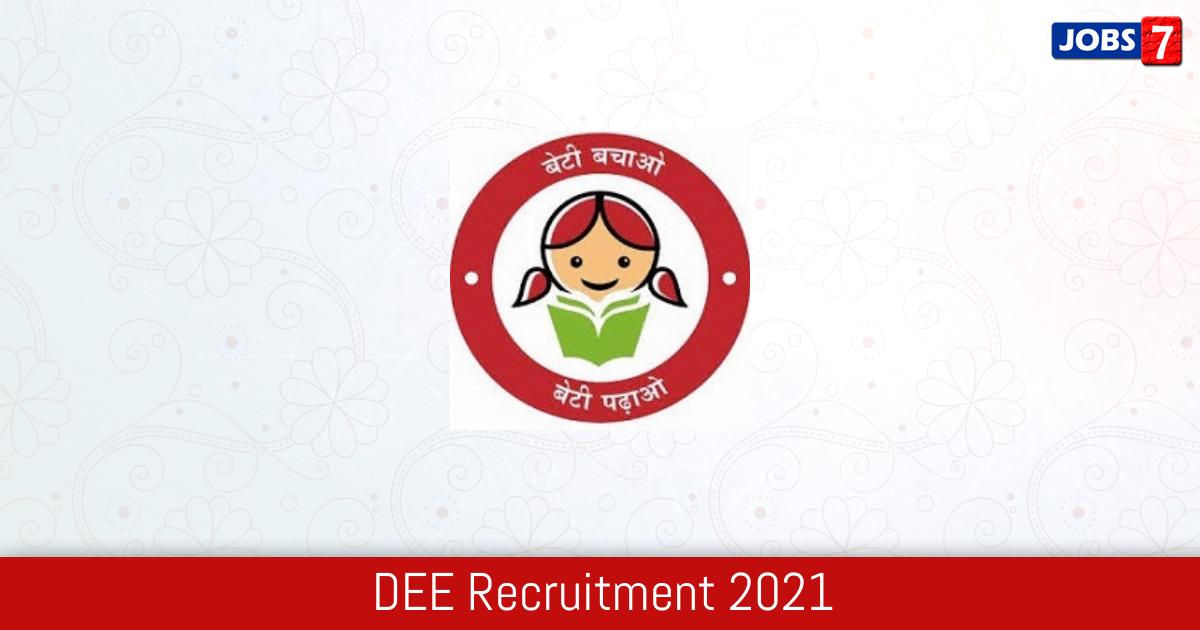 DEE Recruitment 2021:  Jobs in DEE | Apply @ dee.assam.gov.in