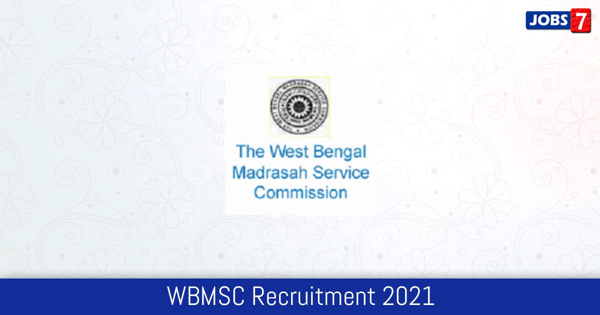 WBMSC Recruitment 2021:  Jobs in WBMSC | Apply @ wbmsc.com
