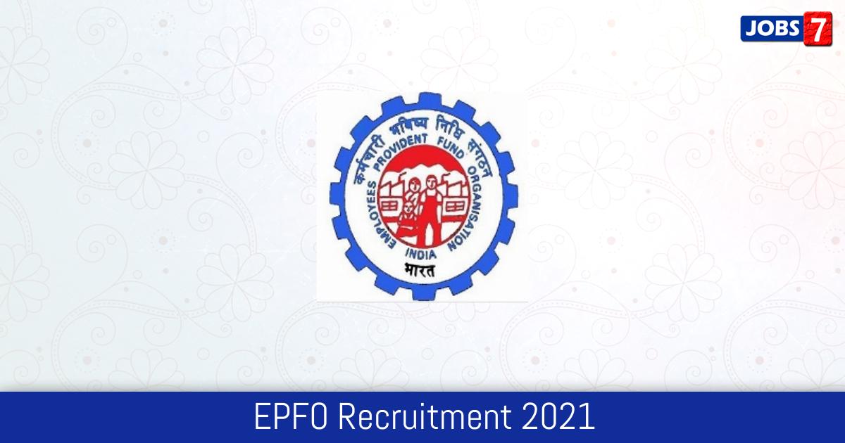 EPFO Recruitment 2021: 98 Jobs in EPFO   Apply @ www.epfindia.gov.in