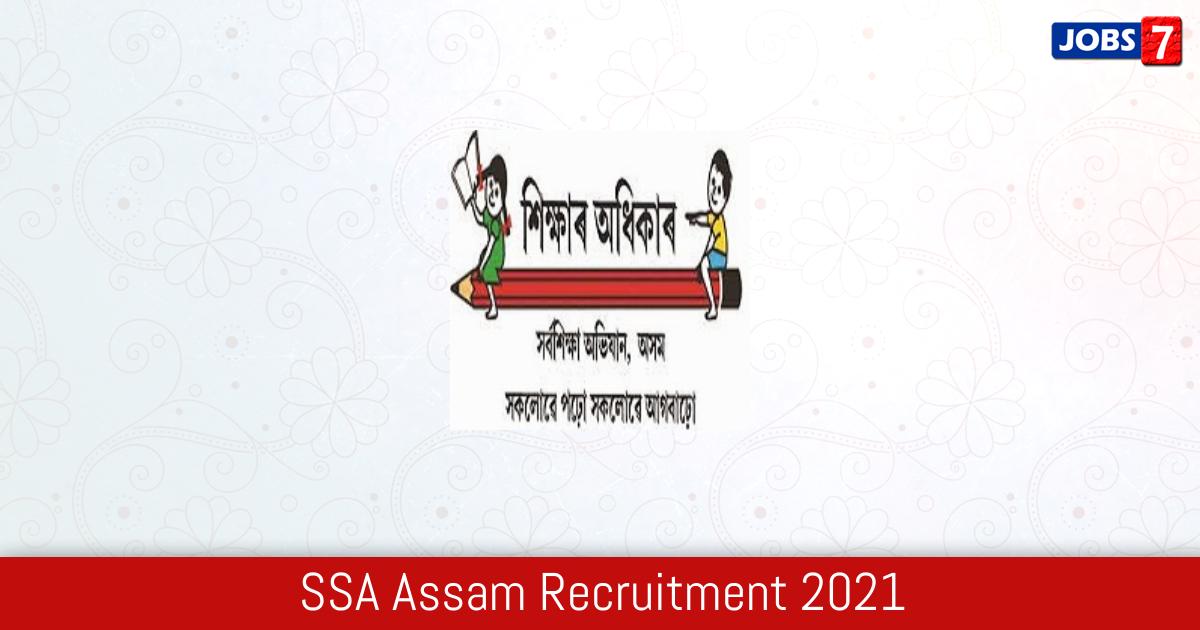 SSA Assam Recruitment 2021:  Jobs in SSA Assam | Apply @ ssa.assam.gov.in