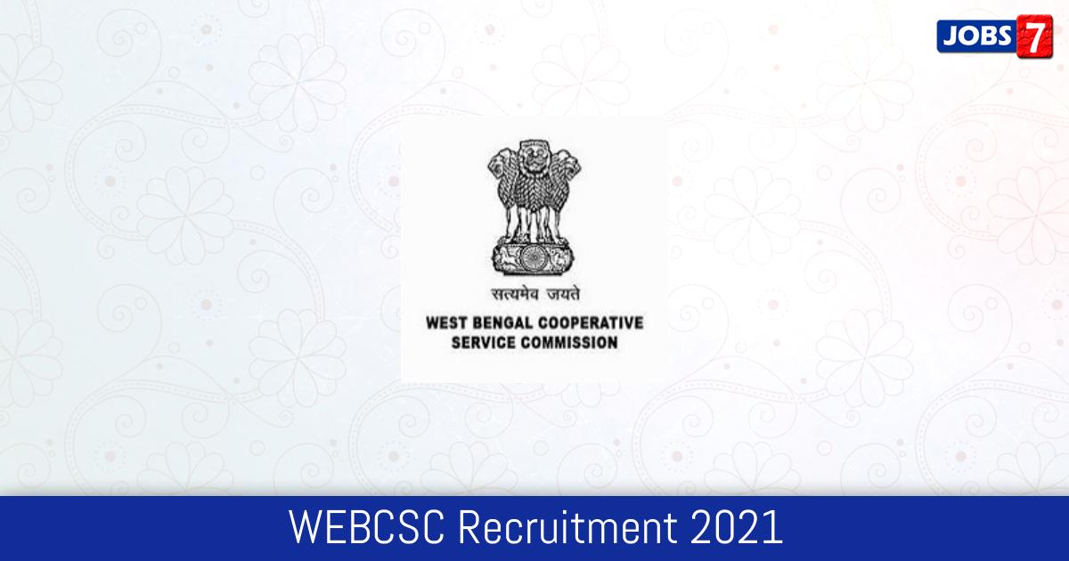 WEBCSC Recruitment 2021:  Jobs in WEBCSC | Apply @ www.webcsc.org