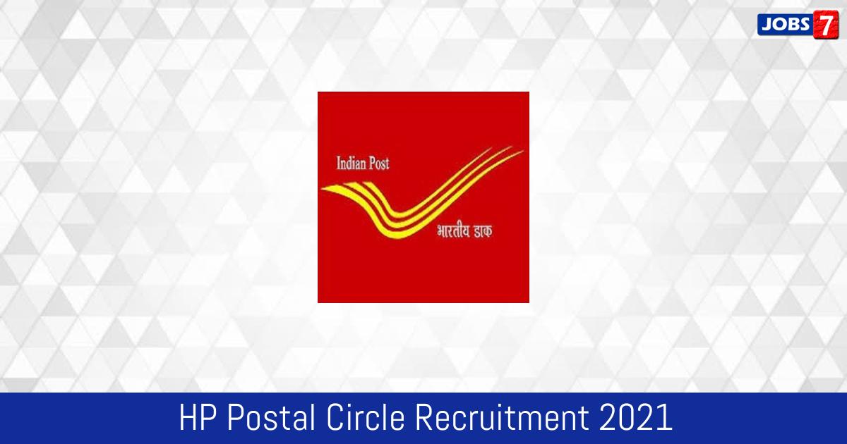 HP Postal Circle Recruitment 2021:  Jobs in HP Postal Circle | Apply @ hppostalcircle.gov.in