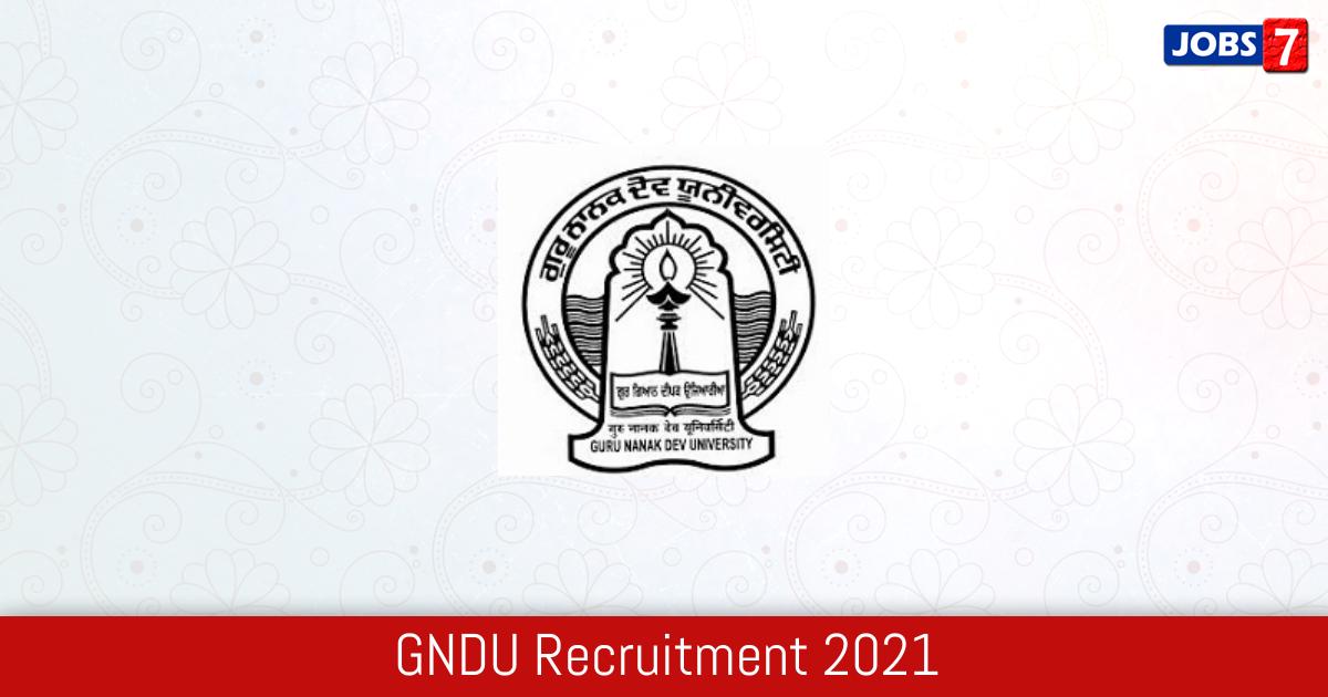 GNDU Recruitment 2021:  Jobs in GNDU | Apply @ online.gndu.ac.in