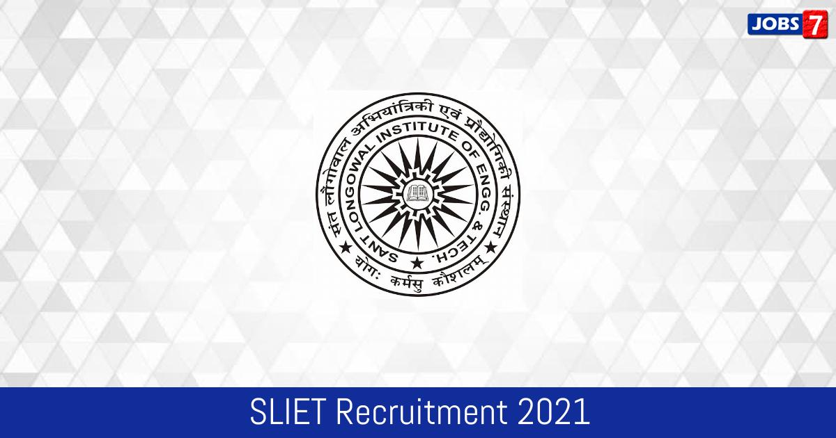 SLIET Recruitment 2021:  Jobs in SLIET | Apply @ sliet.ac.in