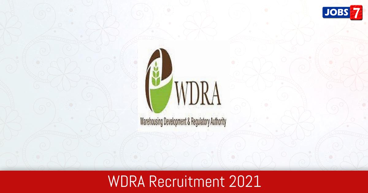 WDRA Recruitment 2021:  Jobs in WDRA | Apply @ wdra.gov.in