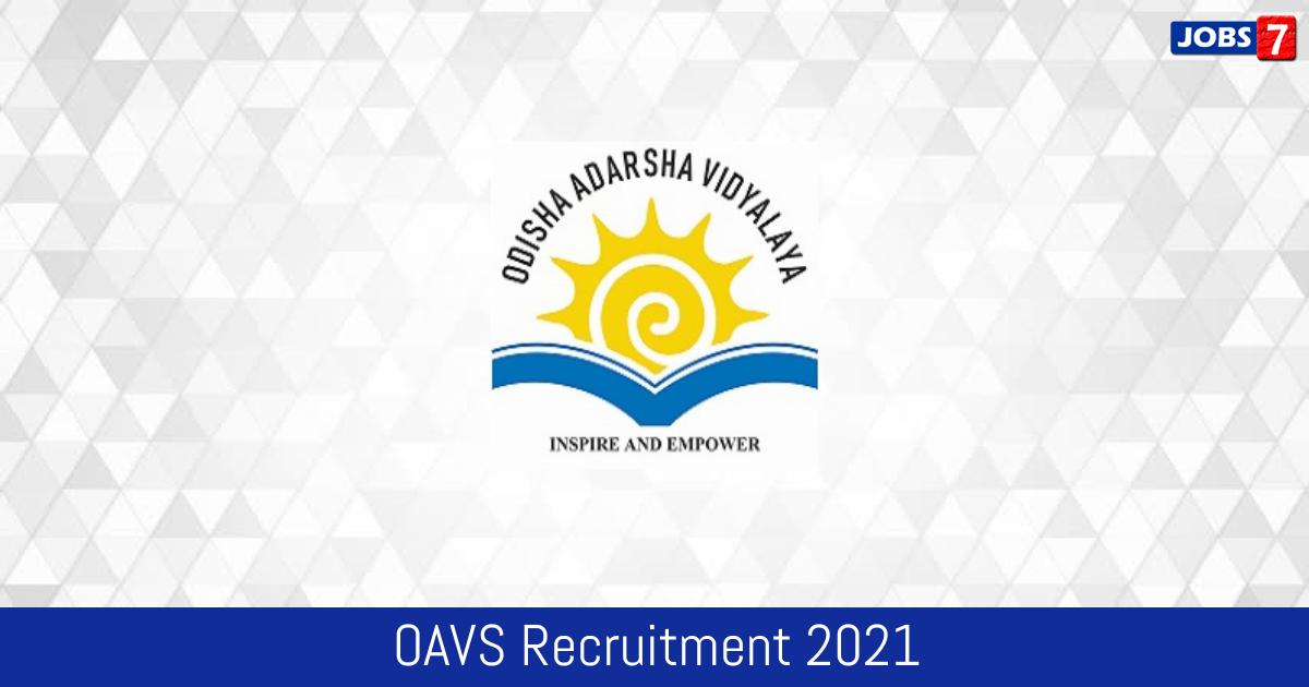 OAVS Recruitment 2021:  Jobs in OAVS | Apply @ www.oav.edu.in