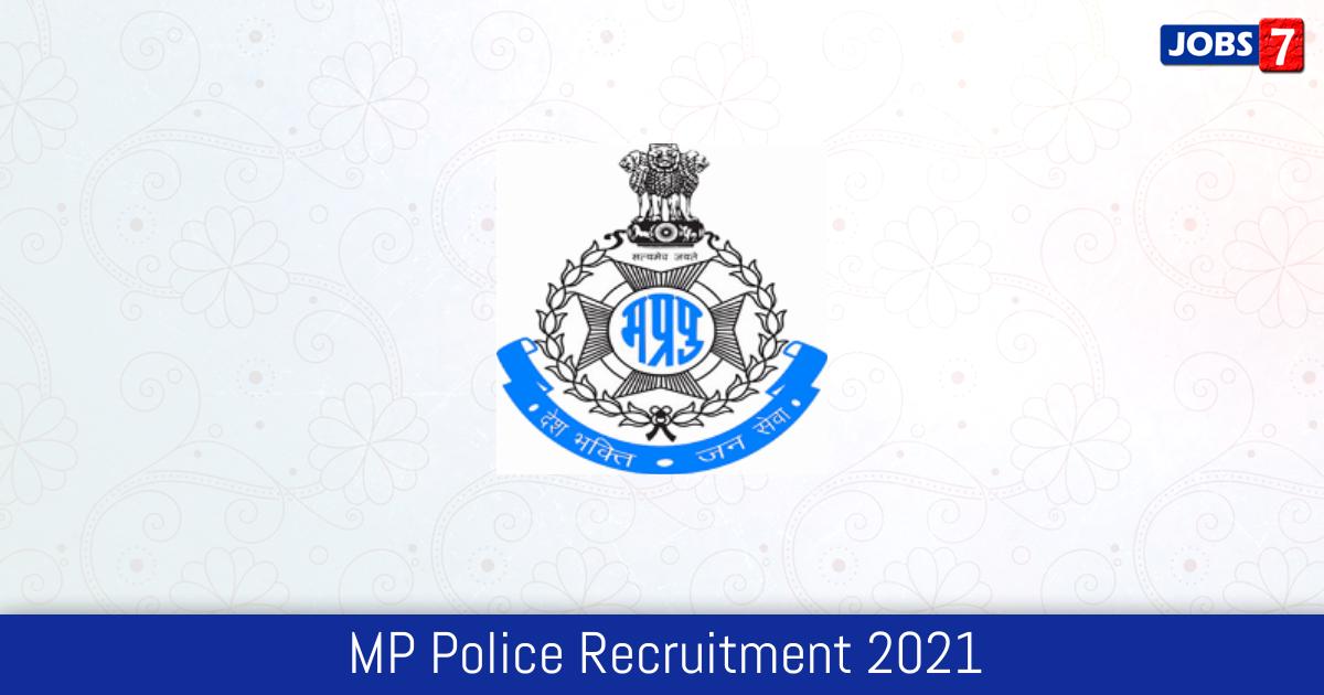MP Police Recruitment 2021:  Jobs in MP Police   Apply @ www.mppolice.gov.in