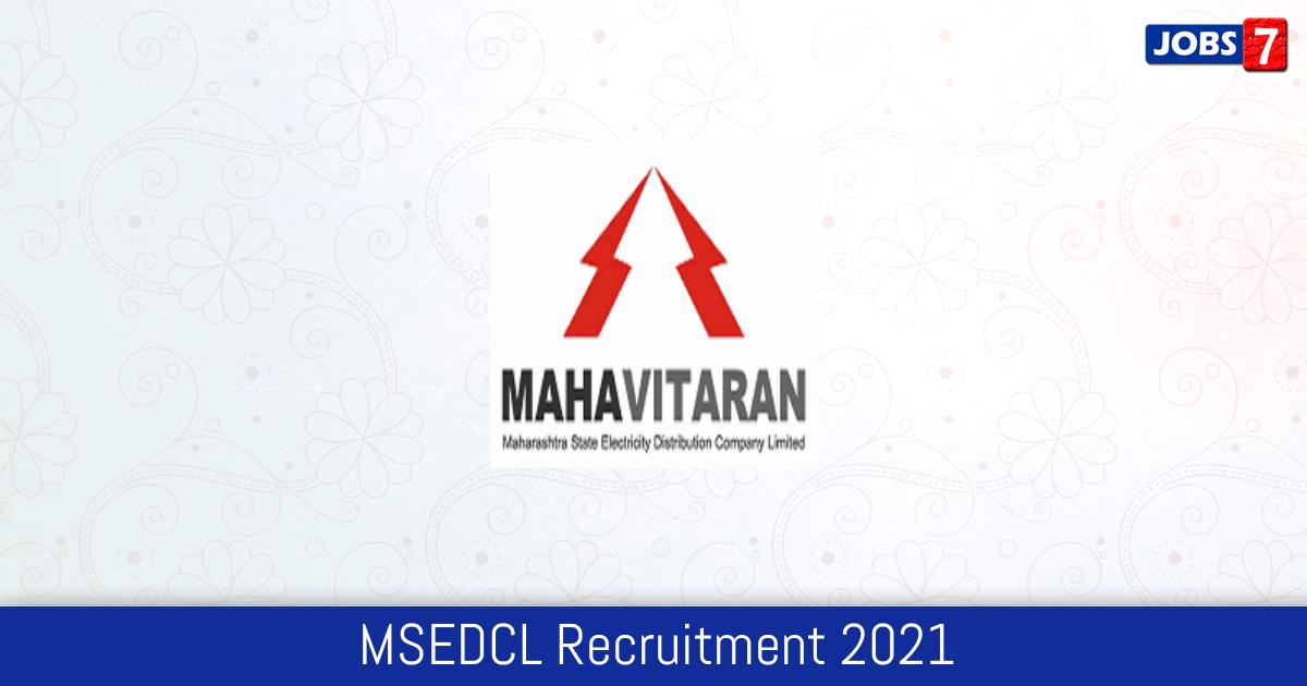 MSEDCL Recruitment 2021: 3 Jobs in MSEDCL   Apply @ www.mahadiscom.in
