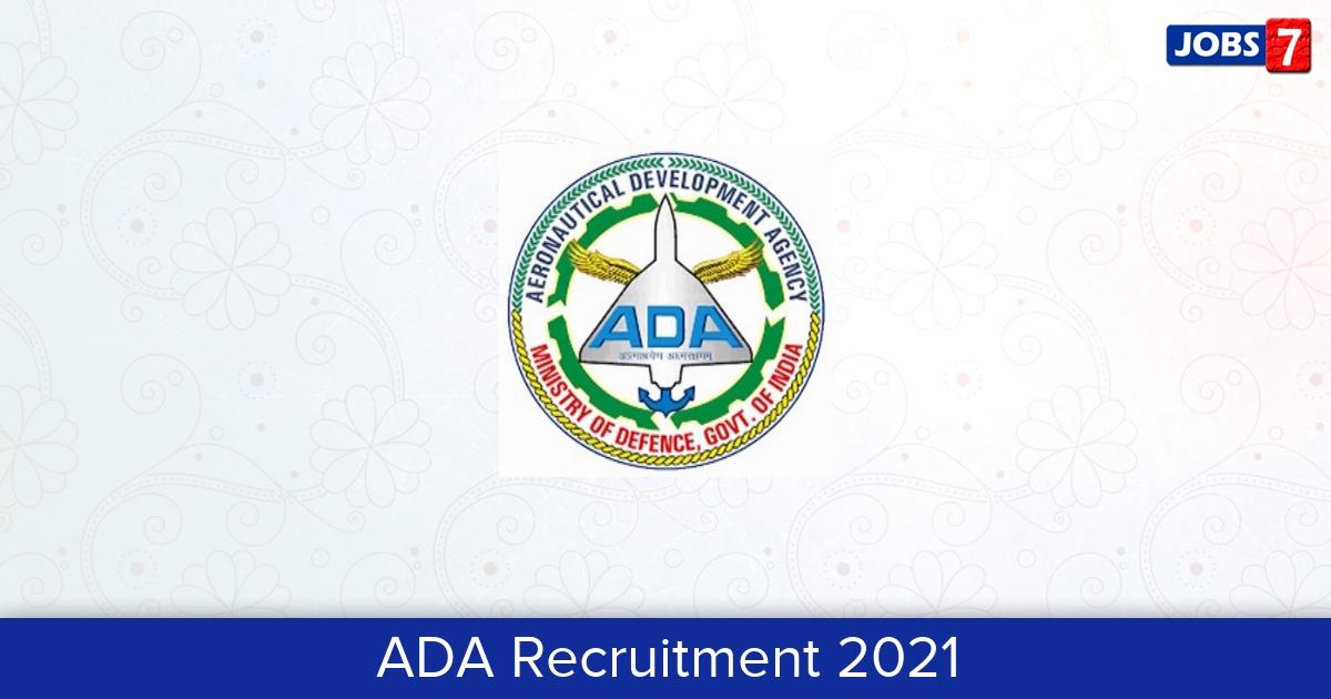 ADA Recruitment 2021:  Jobs in ADA   Apply @ www.ada.gov.in