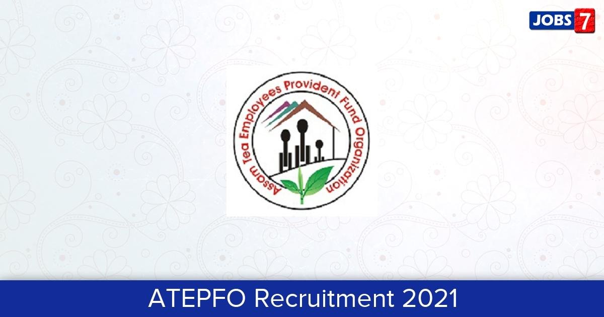 ATEPFO Recruitment 2021: 25 Jobs in ATEPFO   Apply @ atepfo.in