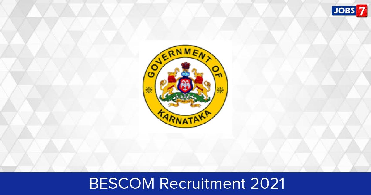 BESCOM Recruitment 2021: 400 Jobs in BESCOM | Apply @ bescom.karnataka.gov.in
