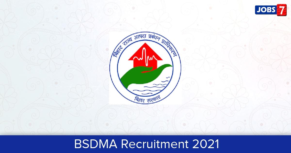 BSDMA Recruitment 2021: 7 Jobs in BSDMA | Apply @ bsdma.org