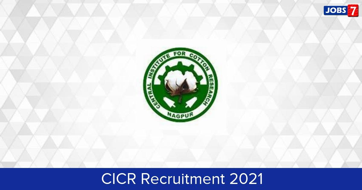 CICR Recruitment 2021:  Jobs in CICR   Apply @ www.cicr.org.in