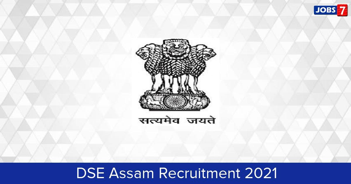 DSE Assam Recruitment 2021: 2272 Jobs in DSE Assam   Apply @ madhyamik.assam.gov.in