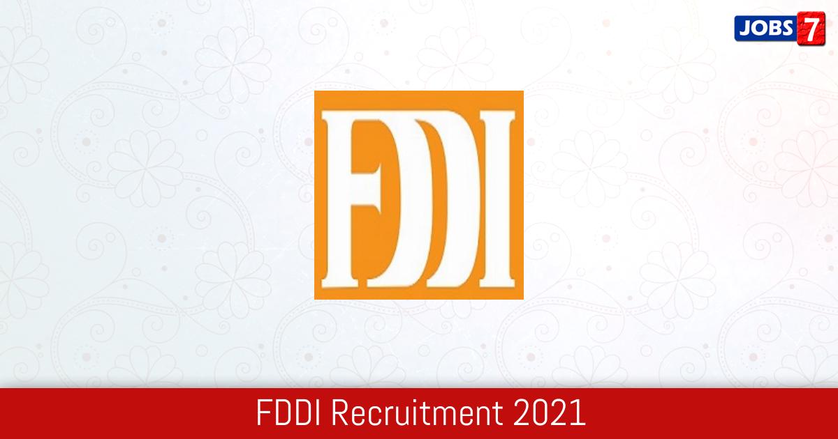 FDDI Recruitment 2021:  Jobs in FDDI | Apply @ www.fddiindia.com