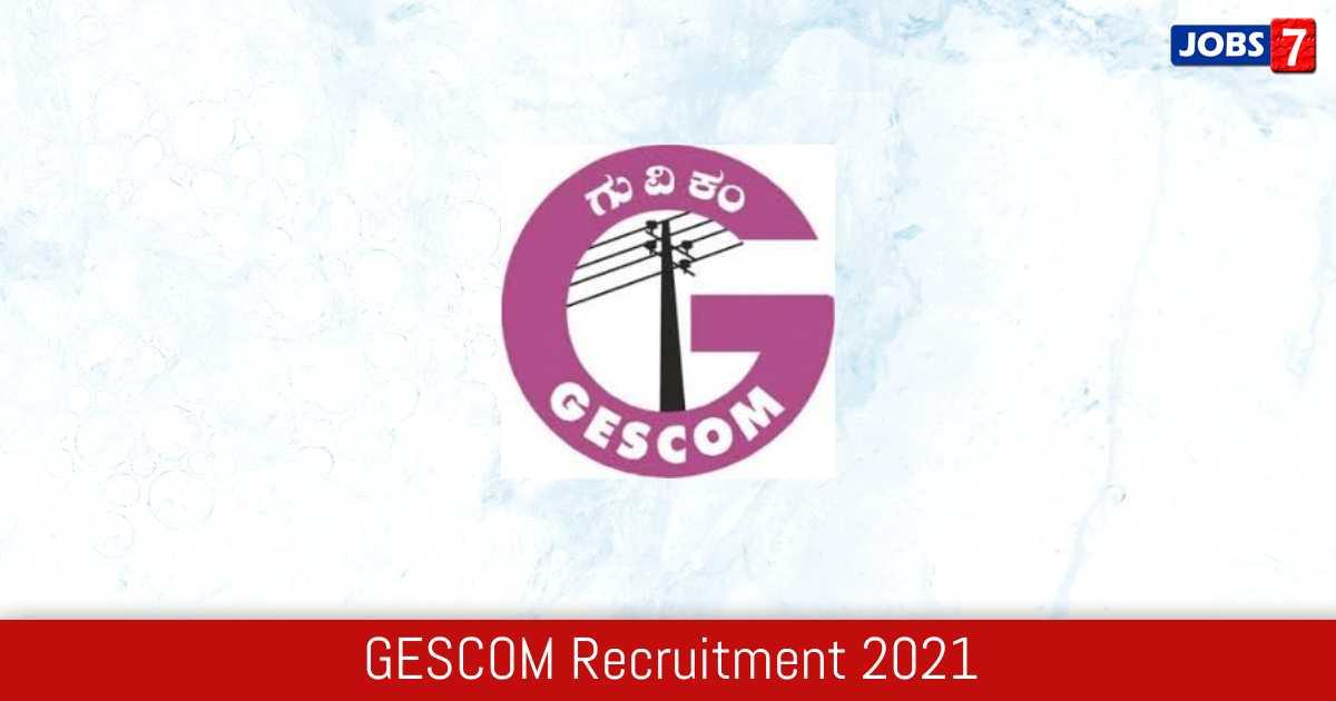 GESCOM Recruitment 2021:  Jobs in GESCOM | Apply @ gescom.karnataka.gov.in