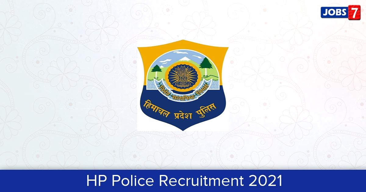 HP Police Recruitment 2021: 1334 Jobs in HP Police | Apply @ citizenportal.hppolice.gov.in