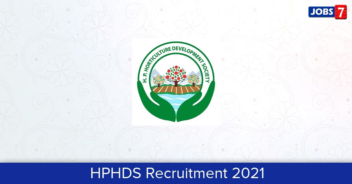 HPHDS Recruitment 2021:  Jobs in HPHDS   Apply @ hds.hp.gov.in