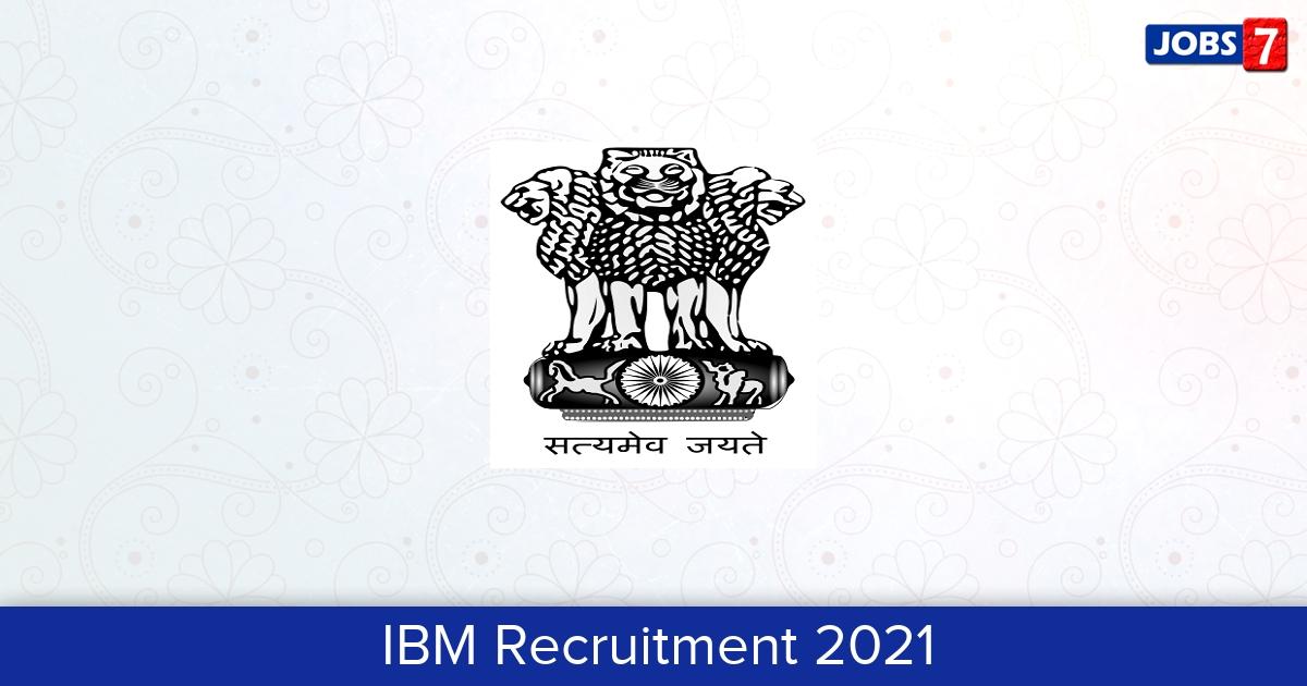 IBM Recruitment 2021: 3 Jobs in IBM   Apply @ ibm.gov.in