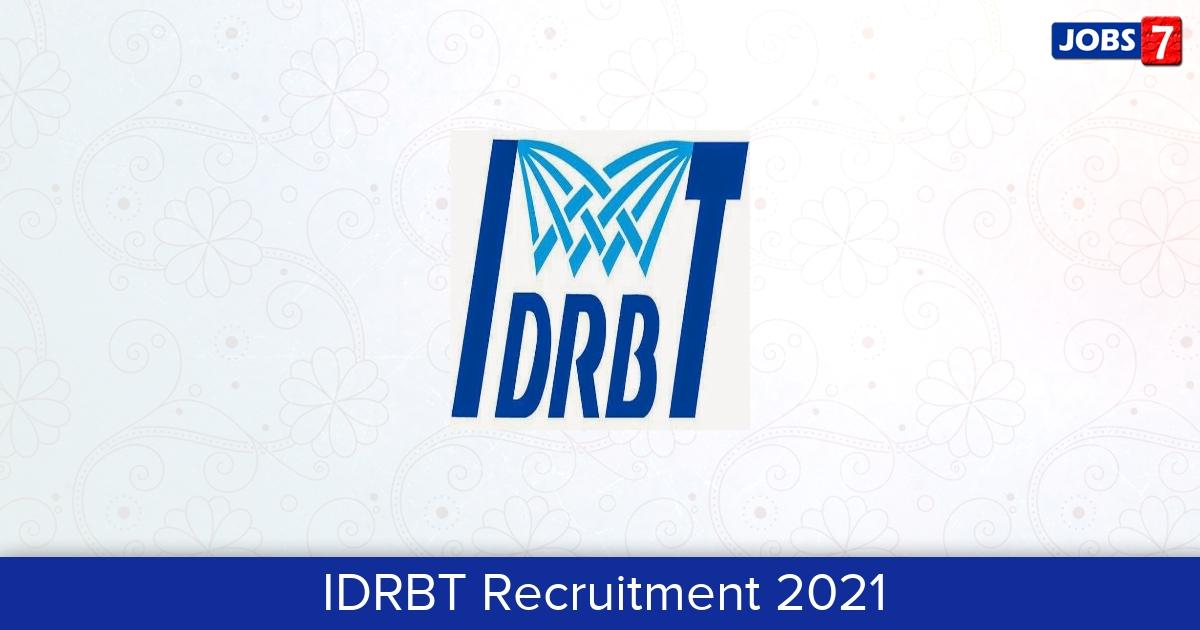 IDRBT Recruitment 2021:  Jobs in IDRBT   Apply @ idrbt.ac.in