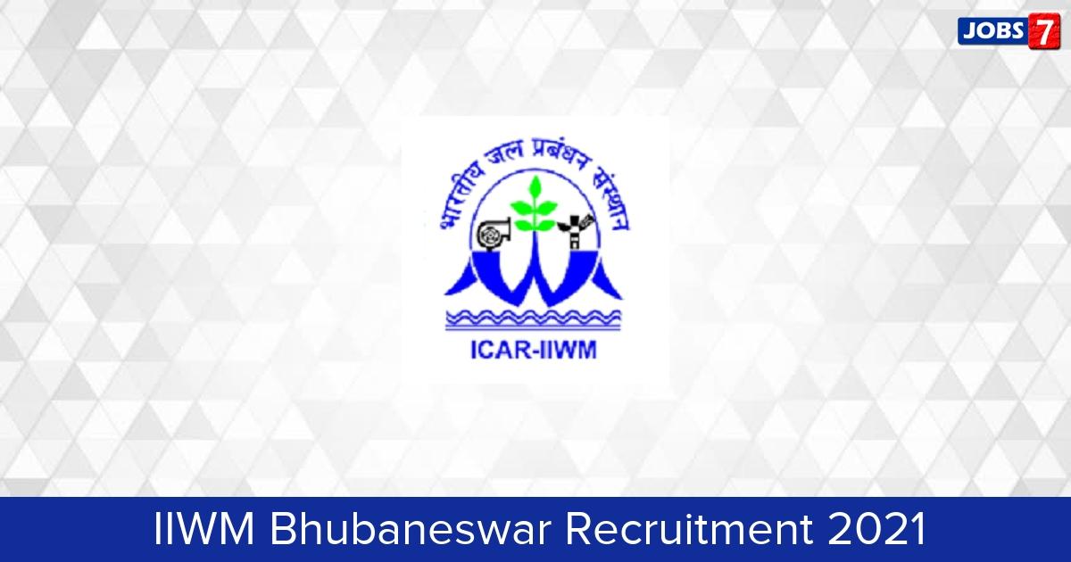 IIWM Bhubaneswar Recruitment 2021:  Jobs in IIWM Bhubaneswar   Apply @ www.iiwm.res.in