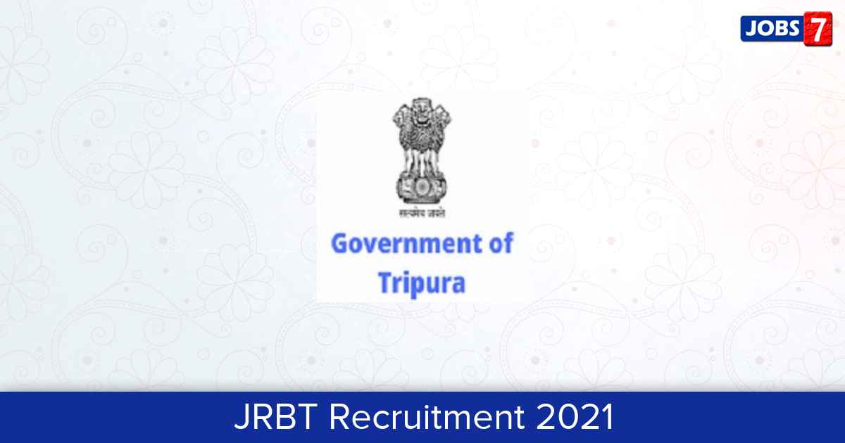 JRBT Recruitment 2021:  Jobs in JRBT | Apply @ www.jrbt.com