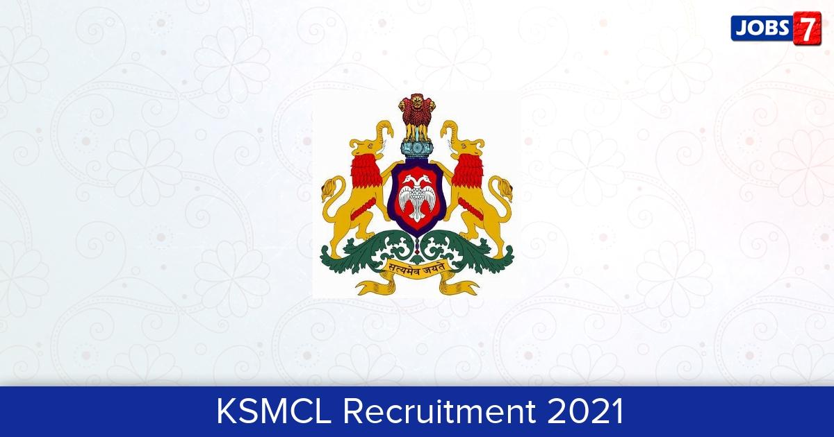KSMCL Recruitment 2021:  Jobs in KSMCL | Apply @ ksmc.karnataka.gov.in