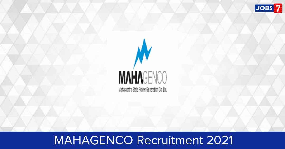 MAHAGENCO Recruitment 2021:  Jobs in MAHAGENCO   Apply @ www.mahagenco.in