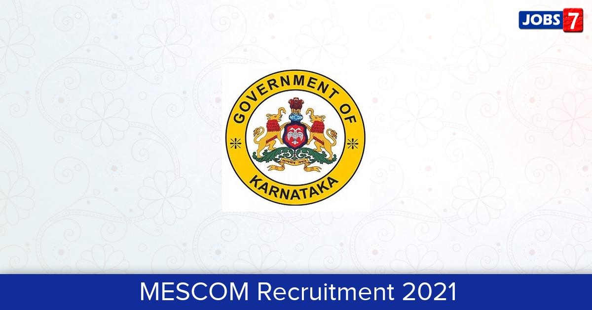 MESCOM Recruitment 2021:  Jobs in MESCOM | Apply @ www.mescom.org.in