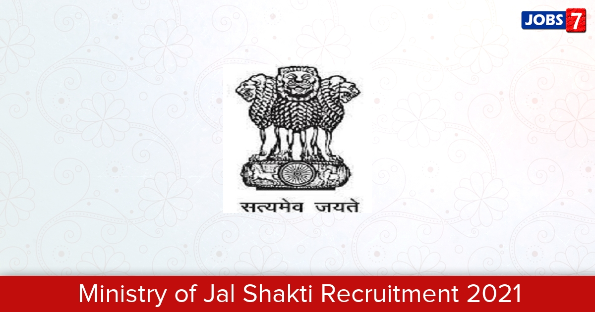 Ministry of Jal Shakti Recruitment 2021: 27 Jobs in Ministry of Jal Shakti   Apply @ jalshakti-dowr.gov.in