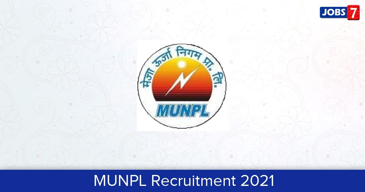 MUNPL Recruitment 2021:  Jobs in MUNPL   Apply @ munpl.co