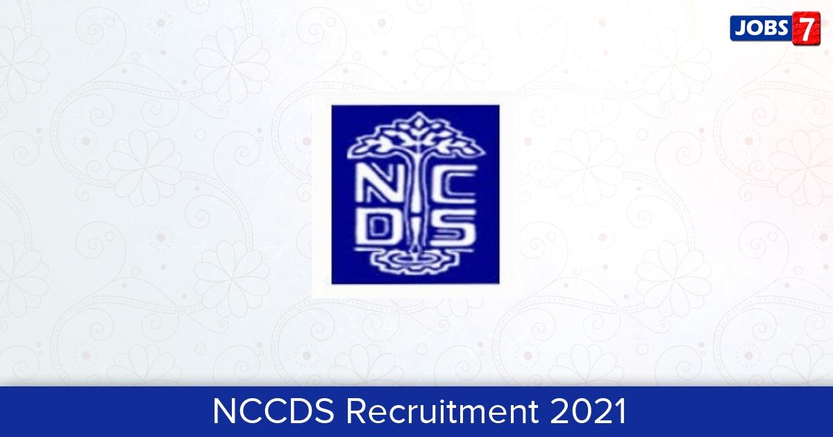 NCCDS Recruitment 2021:  Jobs in NCCDS | Apply @ ncds.nic.in
