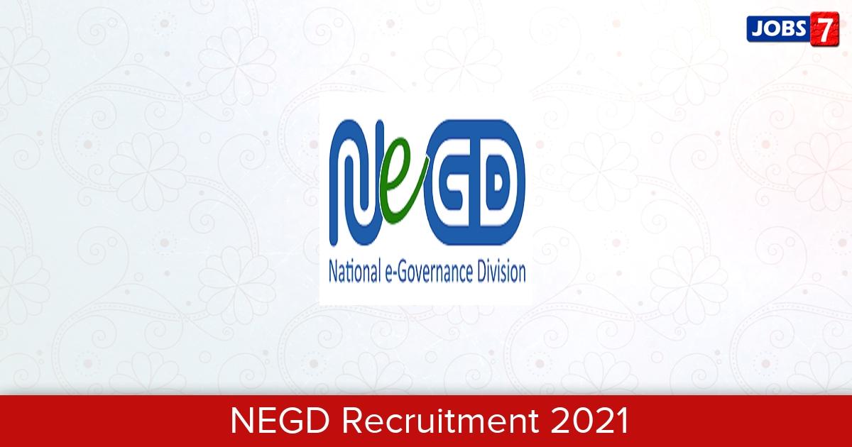 NEGD Recruitment 2021: 4 Jobs in NEGD | Apply @ negd.gov.in