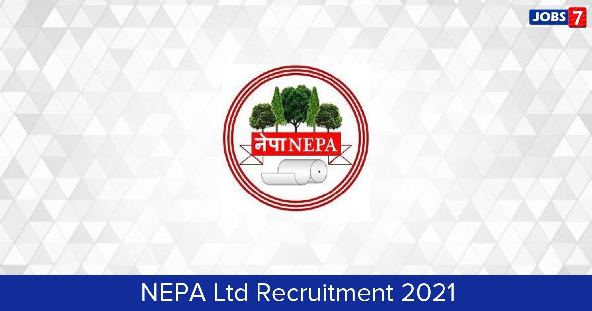 NEPA Ltd Recruitment 2021: 5 Jobs in NEPA Ltd   Apply @ www.nepamills.co.in