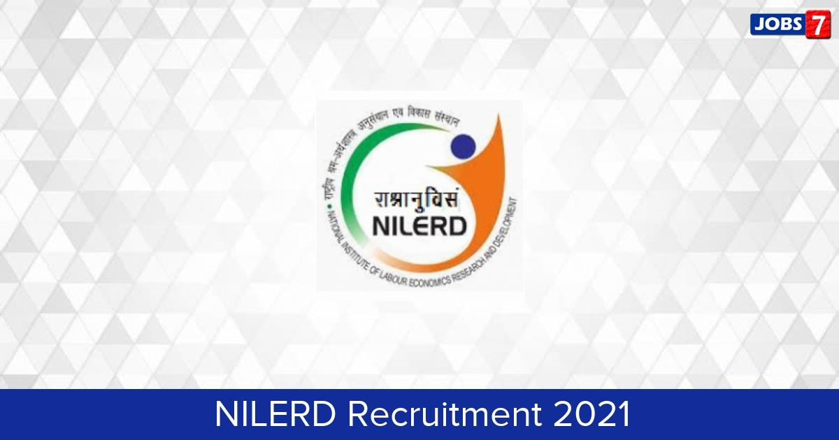 NILERD Recruitment 2021:  Jobs in NILERD   Apply @ nilerd.ac.in