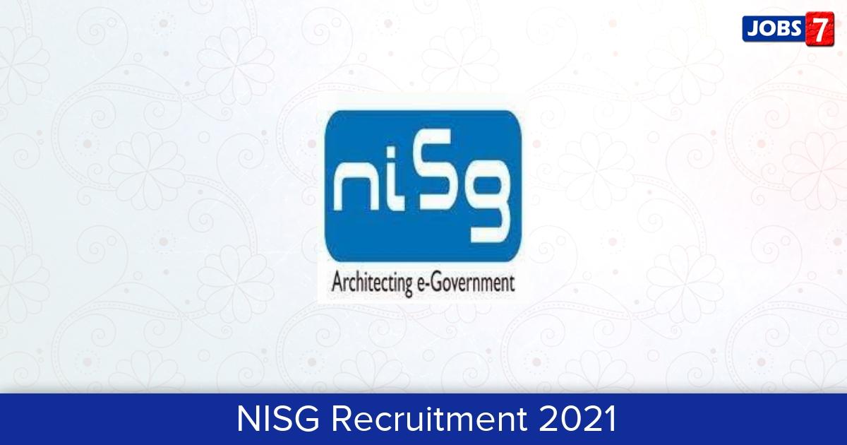 NISG Recruitment 2021:  Jobs in NISG   Apply @ www.nisg.org