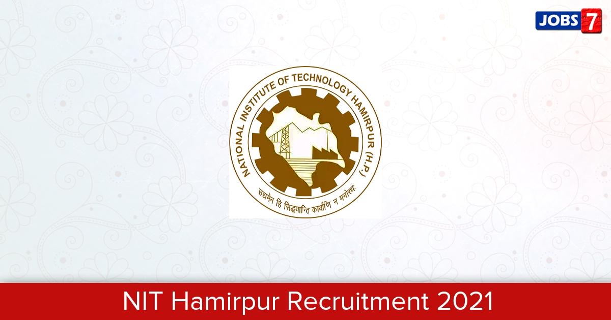 NIT Hamirpur Recruitment 2021: 33 Jobs in NIT Hamirpur | Apply @ nith.ac.in