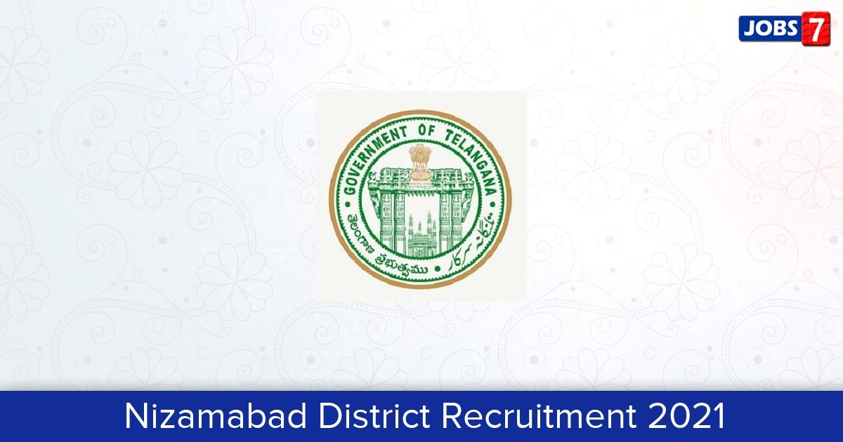 Nizamabad District Recruitment 2021:  Jobs in Nizamabad District | Apply @ nizamabad.telangana.gov.in