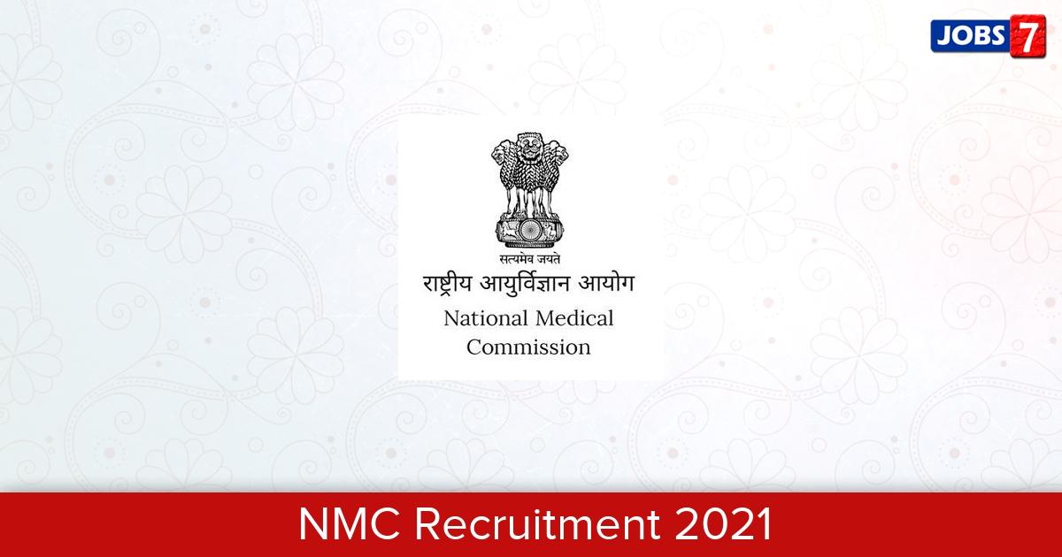 NMC Recruitment 2021:  Jobs in NMC | Apply @ nmc.gov.in