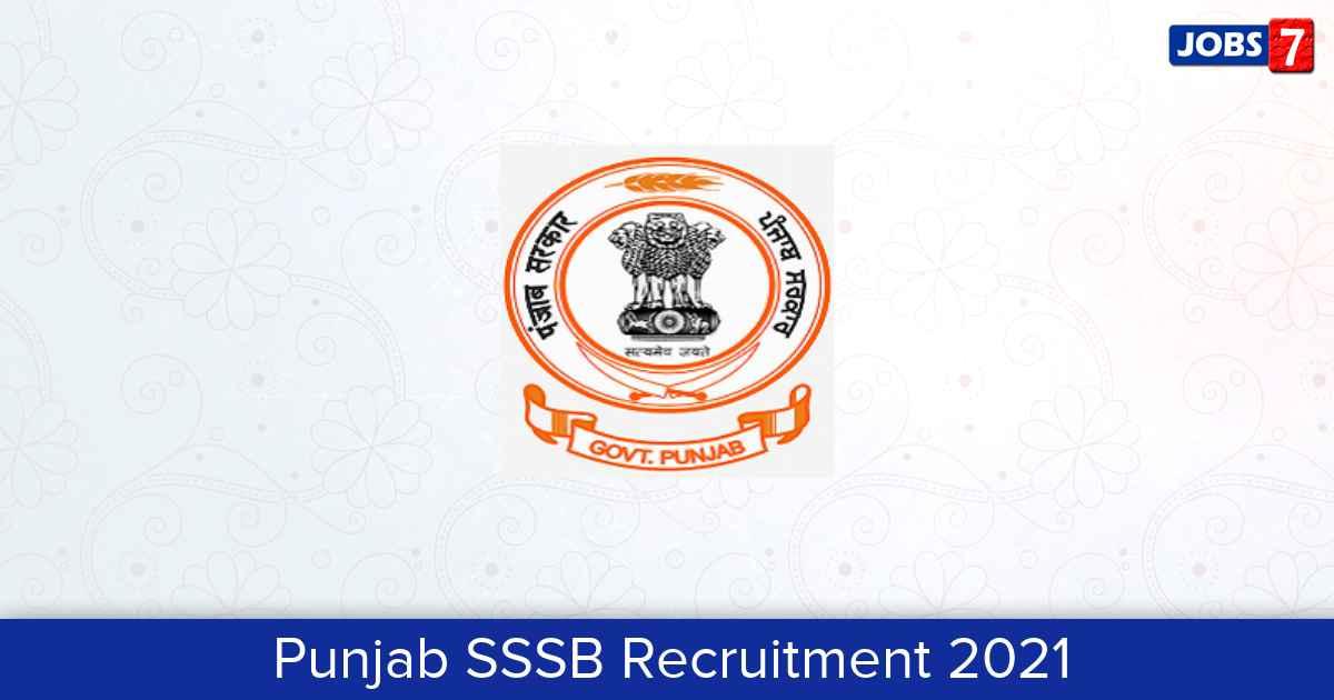 PSSSB Recruitment 2021: 750 Jobs in PSSSB | Apply @ sssb.punjab.gov.in