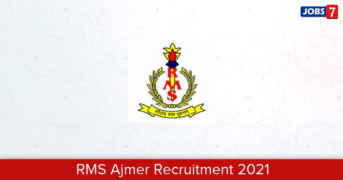 RMS Ajmer Recruitment 2021:  Jobs in RMS Ajmer   Apply @ www.rashtriyamilitaryschoolajmer.in