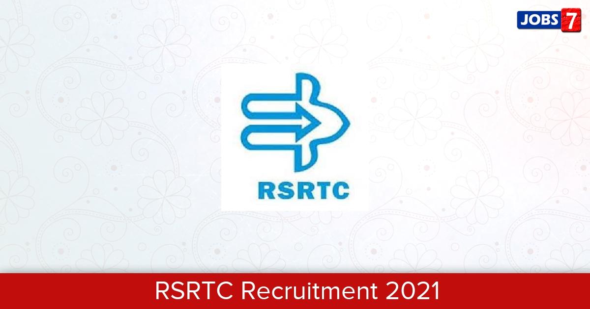 RSRTC Recruitment 2021: 8 Jobs in RSRTC   Apply @ transport.rajasthan.gov.in