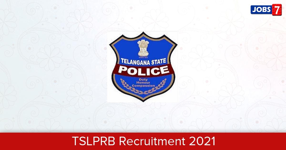 TSLPRB Recruitment 2021:  Jobs in TSLPRB | Apply @ www.tslprb.in