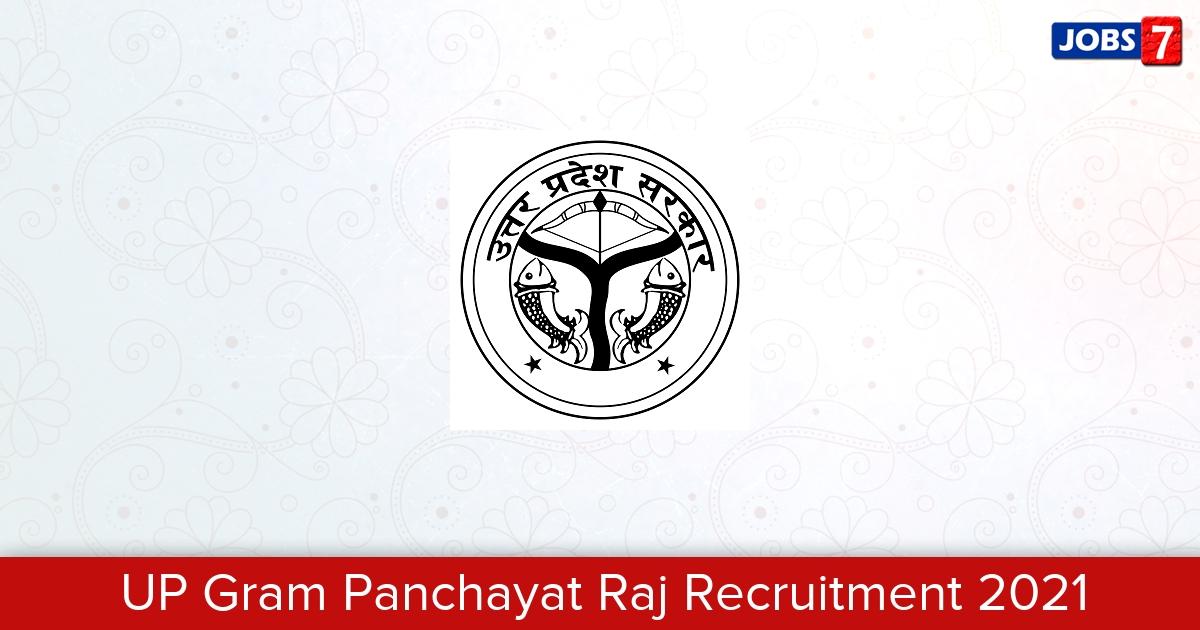 UP Gram Panchayat Raj Recruitment 2021:  Jobs in UP Gram Panchayat Raj | Apply @ panchayatiraj.up.nic.in