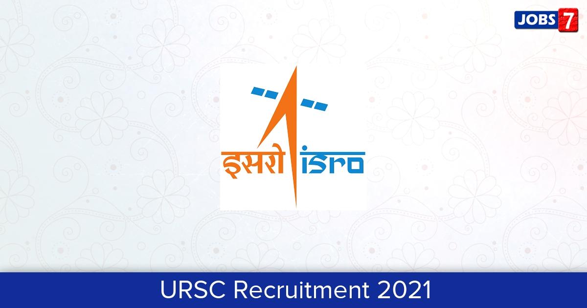 URSC Recruitment 2021: 18 Jobs in URSC | Apply @ www.ursc.gov.in