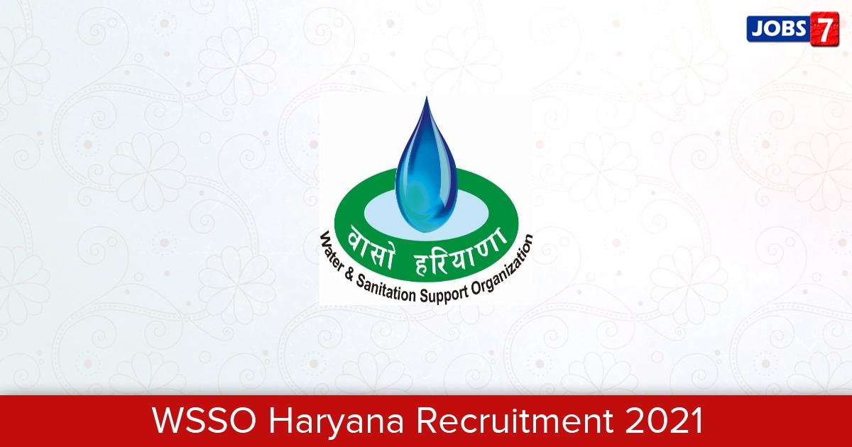 WSSO Haryana Recruitment 2021:  Jobs in WSSO Haryana | Apply @ phedharyana.gov.in/WSSO