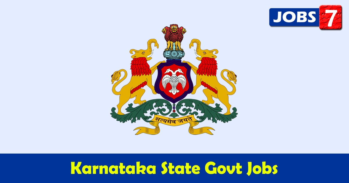 Karnataka Govt Jobs 2021 - 14767 Job Vacancies
